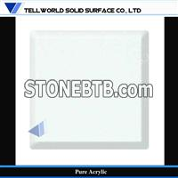 white pure acrylic solid surface sheet for bathroom counter