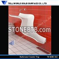 solid surface white bathroom basin