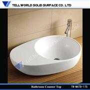 modern white basin,modern basin for bathroom