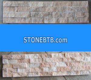 Beige Cultured Veneer Ledge Walling Stone-Quartzite