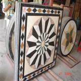 Waterjet Medallion, Mosaic Tile