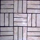 White Ivory Parquetry Mosaic