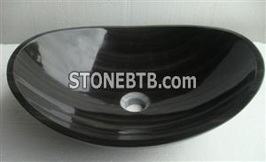 Black Granite Marble Basin