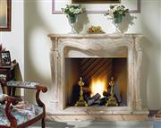 El Greco fireplace-Rosa Portuguese Marble