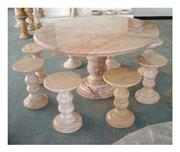 Marble, Granite benches, tables