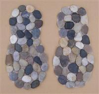 Footprint Pebble Stone