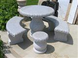 Granite Table And Bench