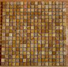 Bronze yellow travertine mosaic