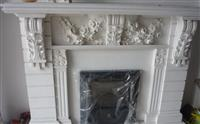 Crystal White Fireplace
