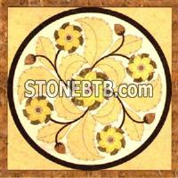 Golden Marble Mosaic Pattern