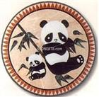 marble patchwork with panda design