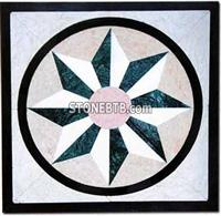 Cheap marble mosaic pattern,stone medallion