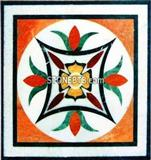 polished stone medallion pattern