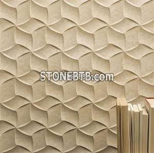 3D CNC Stone Feature Wall Panel