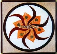 Cheap square Stone Water Jet Medallions