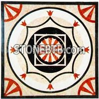 Cheap square Stone Water Jet Medallion Floor