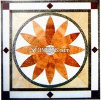 Cheap square Onyx Water Jet Medallion Floor
