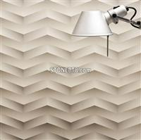 3D CNC White Wave Stone Carving Panel