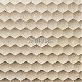 Beige Marble Carving Board with 3D CNC Effection