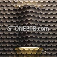 3D CNC Black Marble Carving Board with