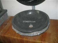 Cheap China Black Round Stone Sink