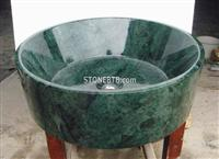 Dark Green Stone Sink  Design