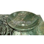 Cheap Polished Green Jade onyx sink design