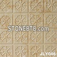Natural Beige 3D Stone Wall