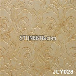 Pretty Sunny Beige Marble 3D Cnc Wall Panel