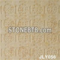 Golden Yellow Marble 3D Cnc Wall Panel