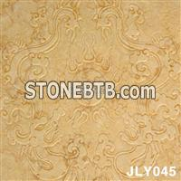 Yellow Marble 3D Cnc Wall Panel