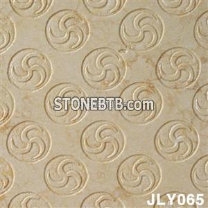 Cheap Yellow Marble 3D Cnc Wall Panel