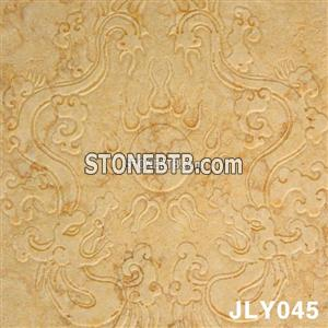 3D CNC Golden Stone Carving Panel Relief