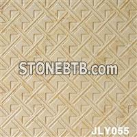 Cheap 3D CNC Golden Stone Carving Panel Relief