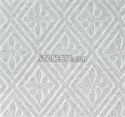 3D CNC White Stone Feature Wall Panel