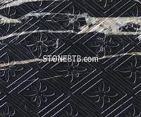3D CNC Black Stone Feature Wall Panel
