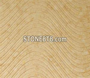 3D Natural Beige stone wall panel