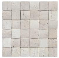 Special 3D Decorative White Travertine Stone Mosaic
