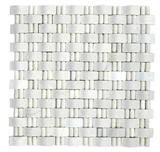 Special 3D Decorative White Stone Mosaic