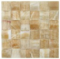 Special 3D Decorative square honey onyx Mosaic wall tiles