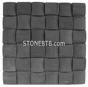 3D Dark Grey Stone Mosaic