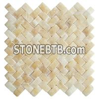 3D Honey Onyx Stone Mosaic