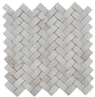 3D White Travertine Stone Mosaic