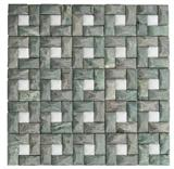 New Design 3d Green White Marble Stone Mosaics