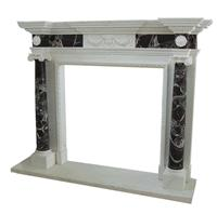 Natural White Marble Stone Fireplace