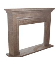 European style stone fireplace