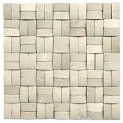 3D Natural Pink stone mosaic,Multicolor Square Stone Mosaic