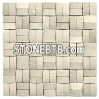 3D Natural Pink stone mosaic Multicolor Square Stone Mosaic
