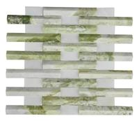 3D Natural White Green stone mosaic,Multicolor Stone Mosaic