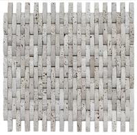 3D Decorative White Stone Wall Mosaic Tile